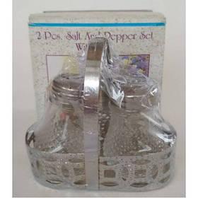 Емкости для соли и перца BEH-S3 (с подставкой, стекло, хромированная сталь), арт. 15-3