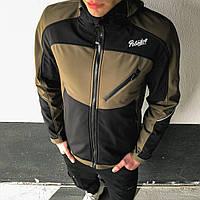 Мужская куртка Round Pobedov (хаки-черная)