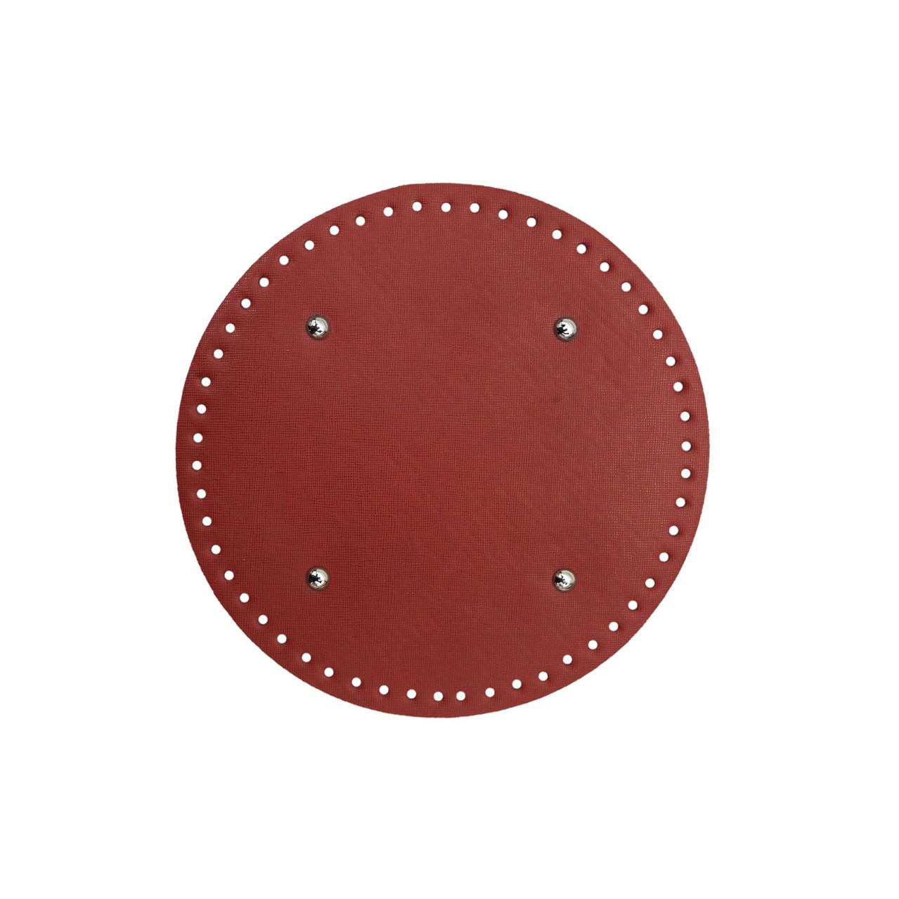 Донышко круглое для сумки экокожа Красное Ø 25 см с ножками