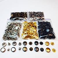 Кнопки для одягу Альфа 12.5 мм ,Кнопки для сорочок №54 (5цветов по 20 шт).