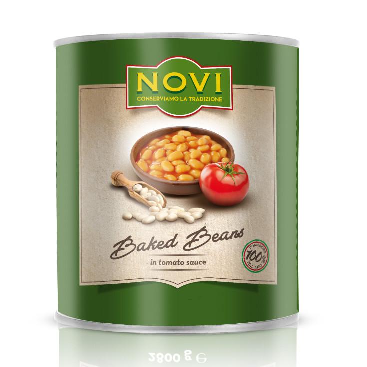 Квасоля NOVI Baked Beans in Tomato (печена, в томатному соусі) 400 г 24 шт/ящ