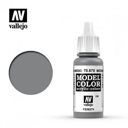 Vallejo Model Color Medium Sea Grey, фото 2