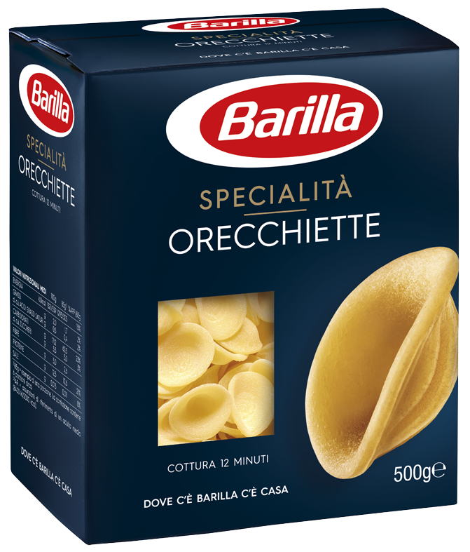 Макарони BARILLA ORECCHIETTE без яйця, 500г, 12шт/ящ