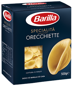 Макарони BARILLA SPECIALITA, Orecchiette без яйця, 500г, 12шт/ящ