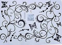 Наклейка виниловая Бабочки. Абстракция 3D декор