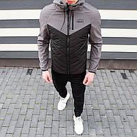 Куртка Soft Shell combi V2 Pobedov (серая вставка)