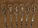 """Шампура подарункові ручної роботи """"На полюванні"""" в кейсі з еко-шкіри, фото 2"""