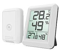 Термометр-гігрометр TS-FT0423 бездротовий з зовнішнім датчиком зовнішньої температури, фото 1