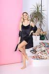 Женская пижама - тройка, велюр, р-р 42-44; 46-48; 50-52; 54-56 (чёрный), фото 3