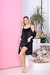 Женская пижама - тройка, велюр, р-р 42-44; 46-48; 50-52; 54-56 (чёрный), фото 4