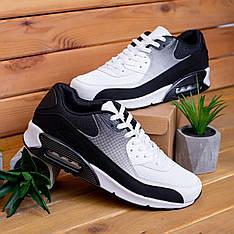 Мужские кроссовки Ривал 90 Pobedov (черно-белые)