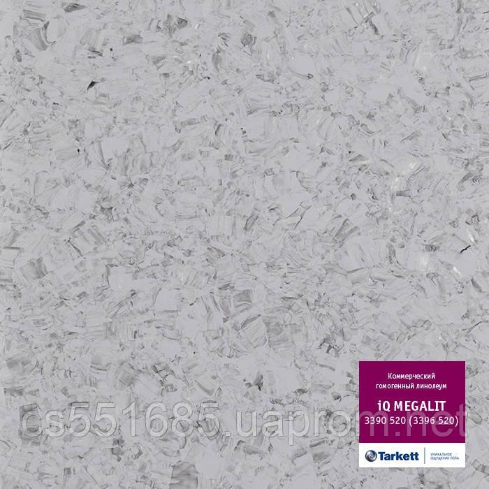 3390 520 (3396 520) - линолеум коммерческий гомогенный 34 кл, коллекция IQ Megalit (Мегалит) Tarkett (Таркетт)