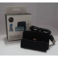 Док - станція для телефонів Android micro usd, чорна, бездротова зарядка, зарядний пристрій, док-станції