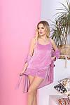 Женская пижама - тройка, велюр, р-р 42-44; 46-48; 50-52; 54-56 (розовый), фото 2