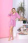 Женская пижама - тройка, велюр, р-р 42-44; 46-48; 50-52; 54-56 (розовый), фото 4