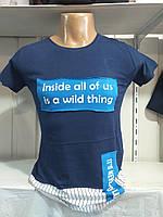 Чоловіча трикотажна футболка НАПИС розмір норма 44-50,колір уточнюйте при замовленні, фото 1