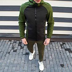 Мужская куртка Valeriyskaya stal' Pobedov (зелено-черная)