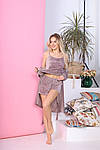 Женская пижама - тройка, велюр, р-р 42-44; 46-48; 50-52; 54-56 (мокко), фото 2