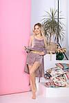 Жіноча піжама - трійка, велюр, р-р 42-44; 46-48; 50-52; 54-56 (мокко), фото 2