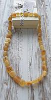 Янтарные лечебные бусы из натурального нешлифованого  янтаря (Украина), фото 1