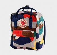 Рюкзак  Fjallraven ART  Kanken Bag Mini 8 литров  Топ качество темный камуфляж, фото 2