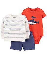 """Летний костюм картерс для малыша мальчика """"Акула в море"""" Carter's"""