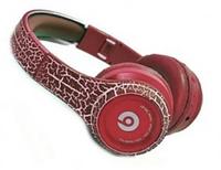 Накладные Bluetooth наушники Monster Beats Crack MS-992B красные, FM/MP3/microSD, с микрофоном, наушники Beats