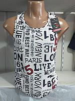 Чоловіча майка-борцовка NEW YORK розмір норма 44-52,колір білий