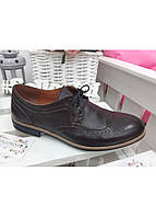 Коричневые кожаные туфли оксфорты размер от 40 до 45