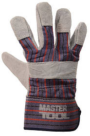 """Рукавички комбіновані з замші та тканини, цілісна долоню, 10,5"""" MASTERTOOL 83-0702"""