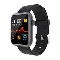 Смарт-часы Colmi P9 с Bluetooth / пульсометром / тонометром / анти-потеря + 6 спорт режимов Черный