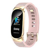Смарт-часы Smart Victory Pink с счетчиком калорий и шагомером + Bluetooth 4.0 + частота сердцебиения и 7 спорт