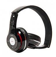 Беспроводные Bluetooth наушники Monster Beats TM13BT microSD/FM/MP3, работа до 8 час, синие