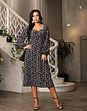 Весняне сукню з відкритим декольте 4 рацветки 50-674, фото 4