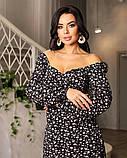 Весняне сукню з відкритим декольте 4 рацветки 50-674, фото 8