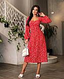 Весняне сукню з відкритим декольте 4 рацветки 50-674, фото 5