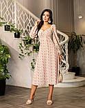 Весняне сукню з відкритим декольте 4 рацветки 50-674, фото 6