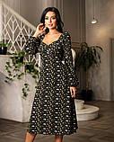 Весняне сукню з відкритим декольте 4 рацветки 50-674, фото 2