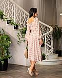 Весняне сукню з відкритим декольте 4 рацветки 50-674, фото 10