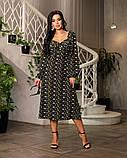Весняне сукню з відкритим декольте 4 рацветки 50-674, фото 7