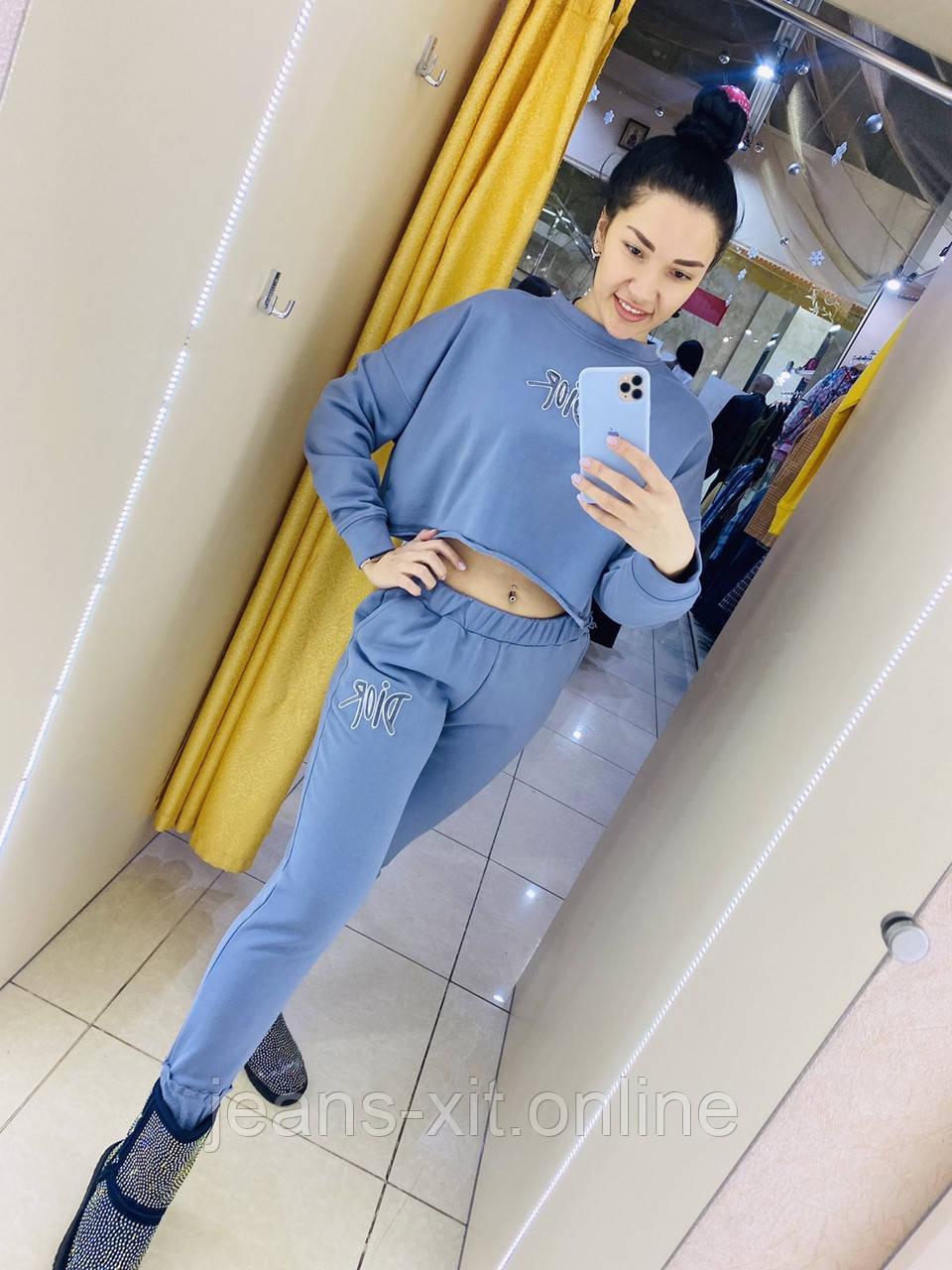 Fashion костюм Жін. L(р) блакитний 88405 Dior Туреччина Осінь-C