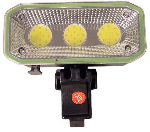 Фонарь велосипедный аккумуляторный с зарядкой CB-963, на клипсе, фото 2