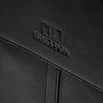 Сумка планшет мужская кожаная через плечо BRETTON черная (06-144), фото 4