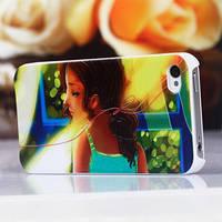 Чехол с 3D-эффектом девочка с хвостом для Iphone 4