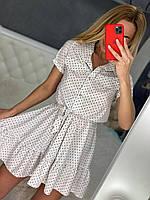 красивое летнее платье с воротником