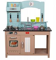 Игровой набор детская кухня AVKO София C461 + посуда и аксессуары 91 х 92 х 30 см Бежевый/Голубой