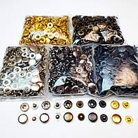 Кнопки для одягу Альфа 12.5 мм ,Кнопки для сорочок №54 (5цветов за 50 шт).