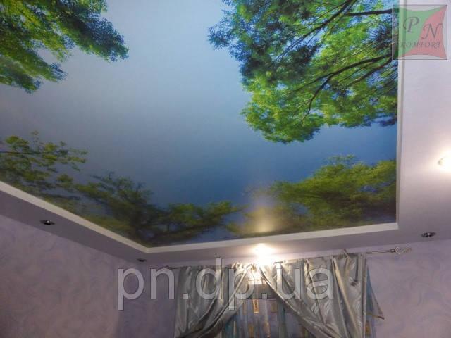 Фотопечать на натяжном потолке 4