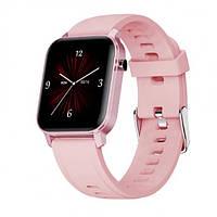 Смарт-часы HerzBand M2 с измерением пульса и уровня кислорода в крови + 15 спорт-режимов Розовый