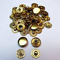 Кнопки для одягу Альфа 10.5 мм. Золотистий (VT-2).Кнопки для гаманців.